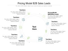 Pricing Model B2B Sales Leads Ppt PowerPoint Presentation Ideas Slideshow Cpb Pdf