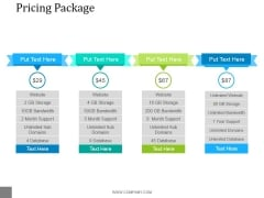 Pricing Package Ppt PowerPoint Presentation Ideas