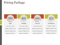 Pricing Package Ppt PowerPoint Presentation Microsoft