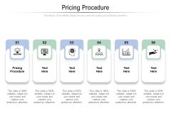 Pricing Procedure Ppt PowerPoint Presentation Inspiration Gallery Cpb Pdf