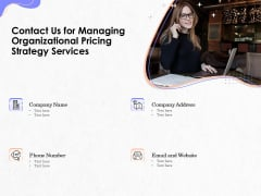 Pricing Profitability Management Contact Us For Managing Organizational Pricing Strategy Services Inspiration PDF