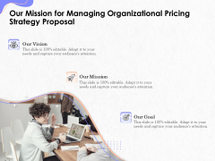 Pricing Profitability Management Our Mission For Managing Organizational Pricing Strategy Proposal Microsoft PDF
