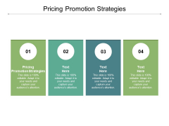Pricing Promotion Strategies Ppt PowerPoint Presentation Outline Professional Cpb