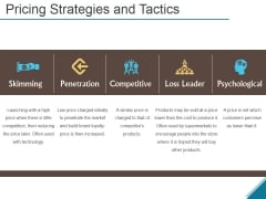 Pricing Strategies And Tactics Ppt PowerPoint Presentation Designs Download