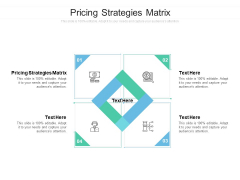 Pricing Strategies Matrix Ppt PowerPoint Presentation Model Slide Cpb