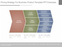 Pricing Strategy For Business Product Template Ppt Examples
