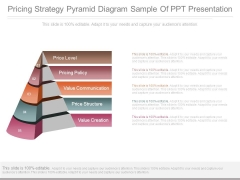 Pricing Strategy Pyramid Diagram Sample Of Ppt Presentation