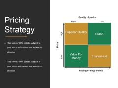 Pricing Strategy Template 1 Ppt PowerPoint Presentation Icon Graphics