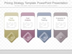 Pricing Strategy Template Powerpoint Presentation