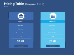 Pricing Table Template 1 Ppt PowerPoint Presentation Layouts Rules