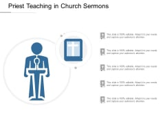Priest Teaching In Church Sermons Ppt Powerpoint Presentation Infographic Template Designs Download