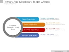 Primary And Secondary Target Groups Ppt PowerPoint Presentation Gallery