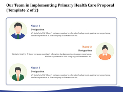 Primary Healthcare Implementation Service Our Team In Implementing Primary Health Care Proposal Achievements Introduction PDF