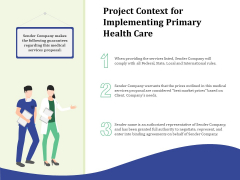 Primary Healthcare Implementation Service Project Context For Implementing Primary Health Care Graphics PDF