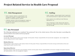 Primary Healthcare Implementation Service Project Related Service In Health Care Proposal Information PDF