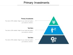 Primary Investments Ppt PowerPoint Presentation Model Design Inspiration Cpb Pdf