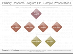 Primary Research Diagram Ppt Sample Presentations