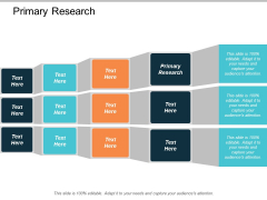 Primary Research Ppt PowerPoint Presentation Show Icon Cpb