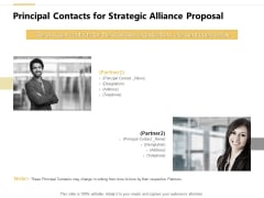 Principal Contacts For Strategic Alliance Proposal Ppt PowerPoint Presentation Model Designs