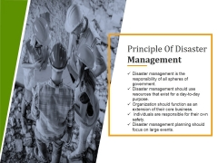 Principle Of Disaster Management Ppt PowerPoint Presentation Backgrounds