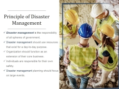 Principle Of Disaster Management Ppt PowerPoint Presentation Inspiration