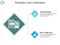 Principles And Certification Ppt PowerPoint Presentation Infographic Template Deck