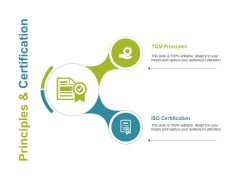 Principles And Certification Ppt PowerPoint Presentation Pictures Design Templates