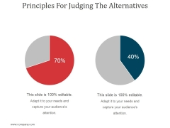 Principles For Judging The Alternatives Ppt PowerPoint Presentation Background Image