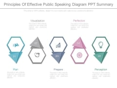 Principles Of Effective Public Speaking Diagram Ppt Summary