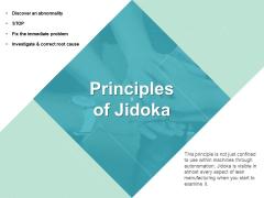 Principles Of Jidoka Ppt PowerPoint Presentation File Information