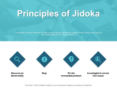 Principles Of Jidoka Ppt PowerPoint Presentation Infographics Slides