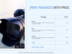 Print Packages With Price Ppt PowerPoint Presentation Icon Design Inspiration