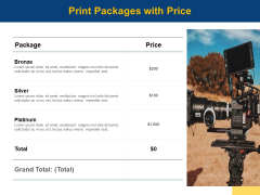 Print Packages With Price Ppt PowerPoint Presentation Infographic Template Guidelines