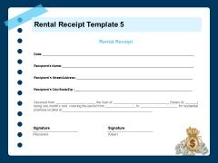 Printable Rent Receipt Rental Receipt Template Month Ppt Pictures Elements PDF