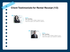 Printable Rent Receipt Template Client Testimonials For Rental Receipt Teamwork Ppt File Templates PDF