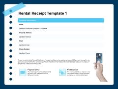 Printable Rent Receipt Template Rental Receipt Email Ppt PowerPoint Presentation Inspiration Templates PDF