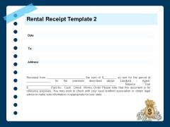 Printable Rent Receipt Template Rental Receipt Information Ppt PowerPoint Presentation Visual Aids PDF