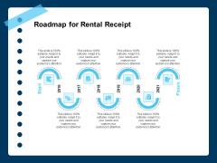 Printable Rent Receipt Template Roadmap For Rental Receipt Ppt PowerPoint Presentation Outline Format Ideas PDF