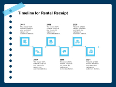 Printable Rent Receipt Template Timeline For Rental Receipt Ppt PowerPoint Presentation Icon Summary PDF