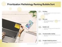 Prioritization Methodology Ranking Bubble Sort Ppt PowerPoint Presentation Icon Professional PDF
