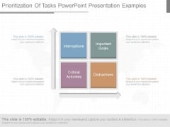 Prioritization Of Tasks Powerpoint Presentation Examples