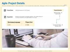 Prioritization Techniques For Software Development And Testing Agile Project Details Infographics PDF
