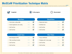 Prioritization Techniques For Software Development And Testing Moscow Prioritization Technique Matrix Sample PDF