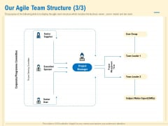 Prioritization Techniques For Software Development And Testing Our Agile Team Structure Executive Sample PDF