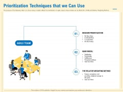 Prioritization Techniques For Software Development And Testing Prioritization Techniques That We Can Use Structure PDF