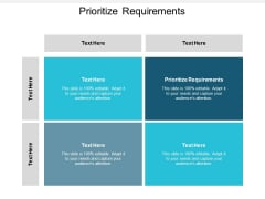 Prioritize Requirements Ppt PowerPoint Presentation Slides Visual Aids Cpb