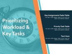 Prioritizing Workload And Key Tasks Ppt PowerPoint Presentation Pictures Brochure