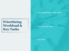 Prioritizing Workload And Key Tasks Ppt PowerPoint Presentation Portfolio Inspiration