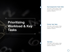 Prioritizing Workload And Key Tasks Ppt PowerPoint Presentation Summary Deck
