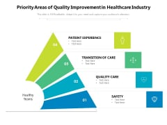 Priority Areas Of Quality Improvement In Healthcare Industry Ppt PowerPoint Presentation Icon Pictures PDF